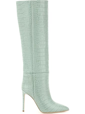 Paris Texas Crocodile Print Stiletto Boots