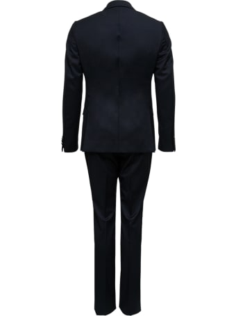 Z Zegna Single Breasted Black Wool Tailored Suit
