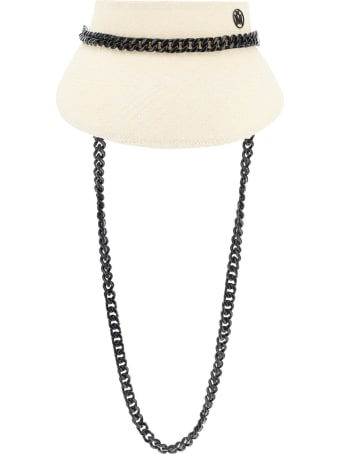 Maison Michel Patty Visor With Chains