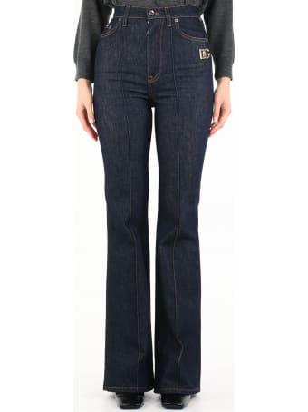 Dolce & Gabbana Blue Flared Jeans