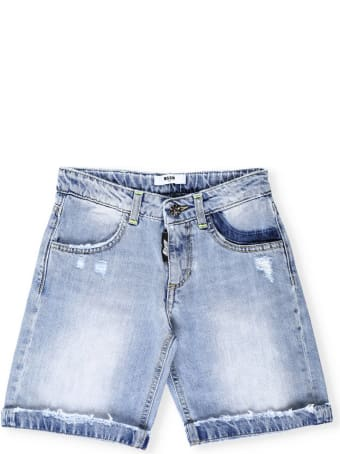 MSGM Cotton Jeans Bermuda Short