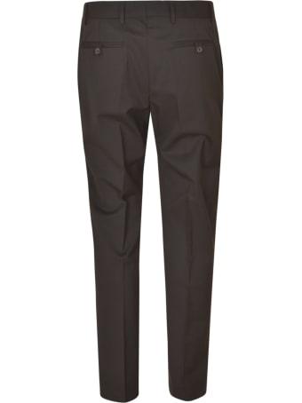 Les Hommes Zip Details Regular Fit Classic Trousers