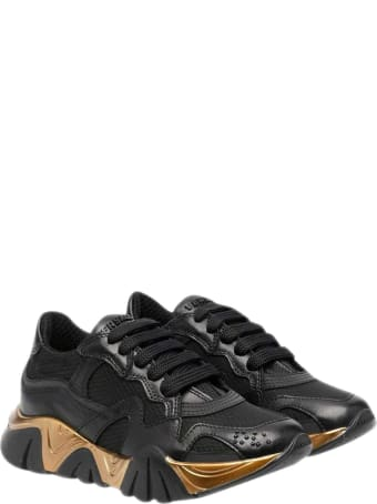 Young Versace Metallic Sneakers