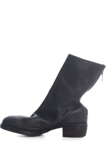 Guidi Lined Back Zip Mid Boot