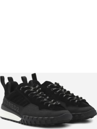 Dsquared2 Fabric Sneakers With Tone-on-tone Logo Print