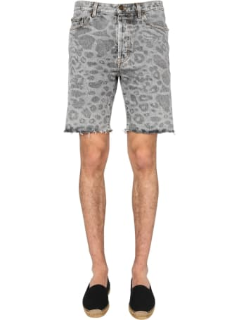 Saint Laurent Shorts With Spotted Print