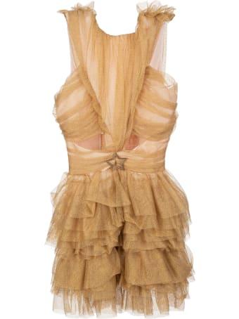 Teen Idol Golden Rachel Mini Dress