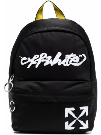 Off-White Nylon Backpack With Logo Print