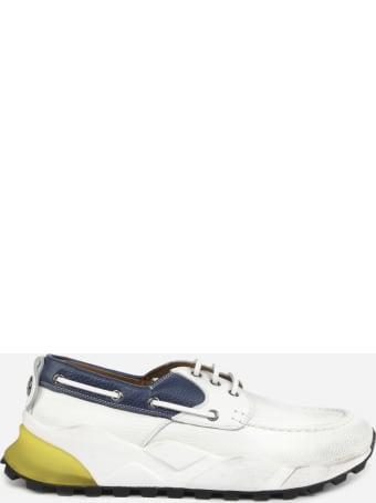 Voile Blanche Sneakers Sailor In Pelle Con Inserti A Contrasto
