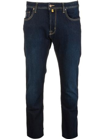 Jacob Cohen Man Slim Fit Bard Jeans In Dark Blue Denim