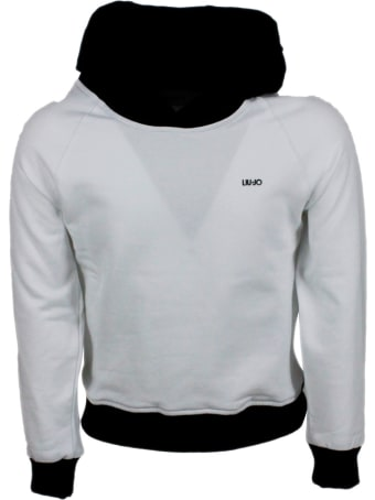 Liu-Jo Crewneck Sweatshirt With Hood With Contrasting Color