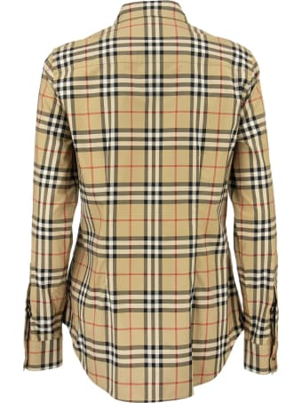 Burberry Lapwing - Button-down Collar Vintage Check Stretch Cotton Shirt