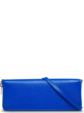 Balenciaga Rectangular Crossbody Bag In Blue Leather