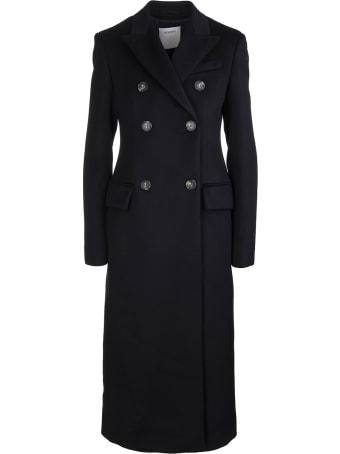 SportMax Black Mirko Double-breasted Coat
