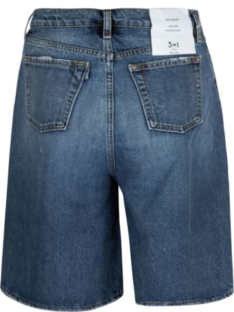 3x1 Logo Patched Denim Shorts