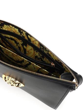 Versace La Medusa Leather Clutch