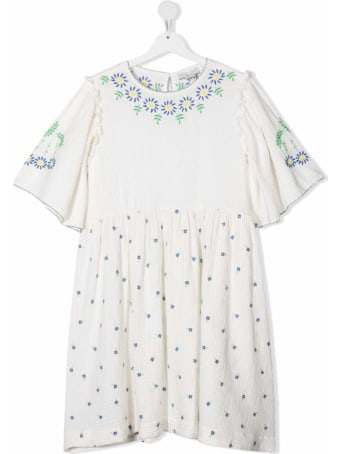 Stella McCartney Kids White Embroidered Cotton Dress