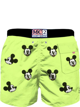 MC2 Saint Barth Mickey Mouse Embroidery Boy's Swim Trunks -  Disney© Special Edition