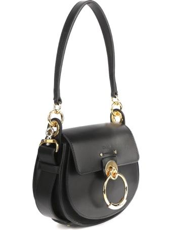 Chloé Tess Black Leather Shoulder Bag