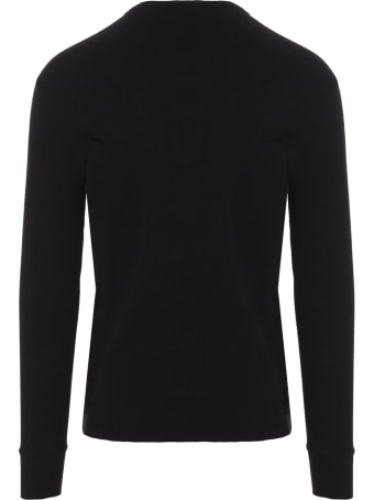 Tom Ford 'fluid Rib Henley' T-shirt