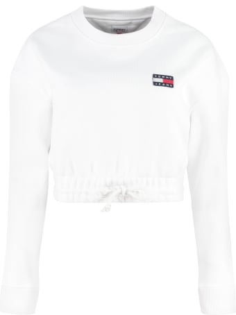 Tommy Jeans Cotton Crew-neck Sweatshirt With Logo