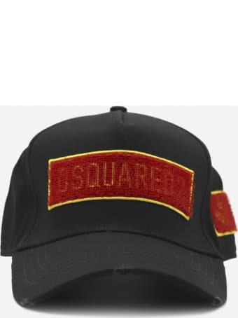 Dsquared2 Cotton Baseball Hats With Logo Patch