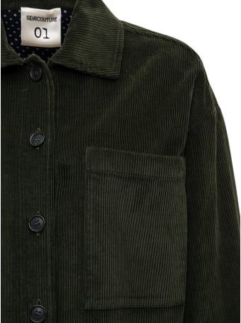 SEMICOUTURE Blanche Shirt In Green Cotton