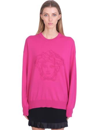Versace Knitwear In Fuxia Wool