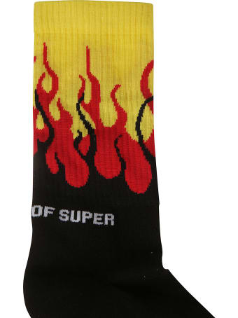 Vision of Super Ribbed Flame Socks