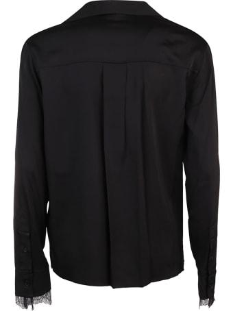 Calvin Klein Collection Blusa Ls Lace Trim