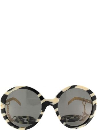 Gucci Gucci Gg0726s Black & Ivory Sunglasses