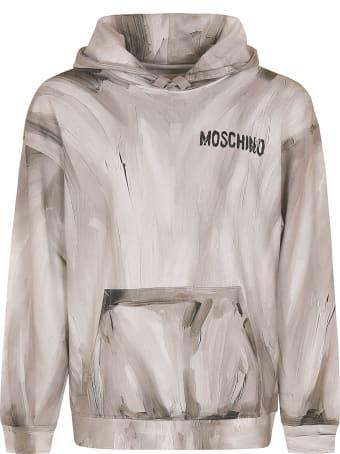 Moschino Painted Chest Logo Hoodie