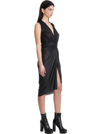 Rick Owens Lilies Dress In Black Viscose