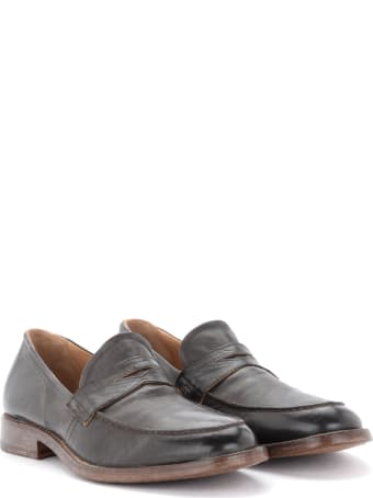 Moma Sombrero Loafers In Dark Brown Leather