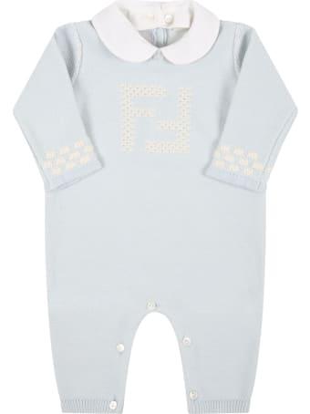 Fendi Light Blue Set For Baby Boy With Douple Ff