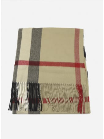 Burberry Cashmere Scarf With All-over Tartan Motif