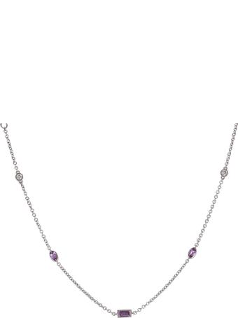 Lo Spazio Jewelry Lo Spazio Pink Sapphire and Diamond Necklace