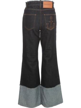 J.W. Anderson Flared Raw Edge Jeans