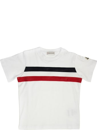 Moncler T-shirt With Tricolor Print White