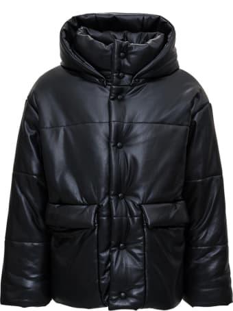 Nanushka Hooded Down Jacket In Vegan Leather