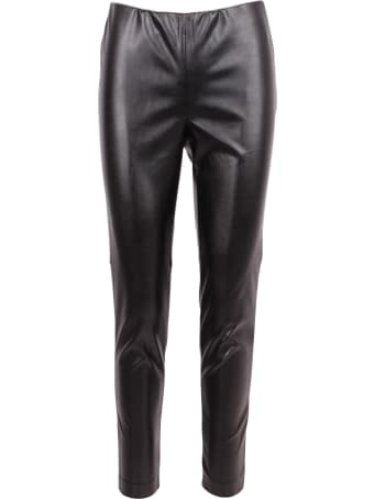 Ermanno Firenze Faux Leather Trousers