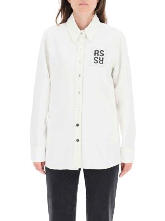 Raf Simons Denim Shirt With Logo Patch