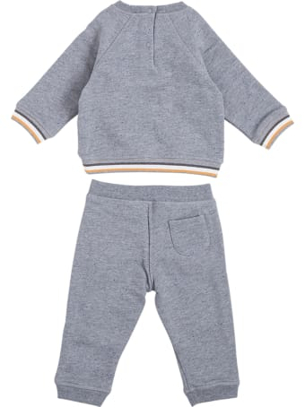 Tartine et Chocolat Grey Cotton Blend Coordinated Suit With Print