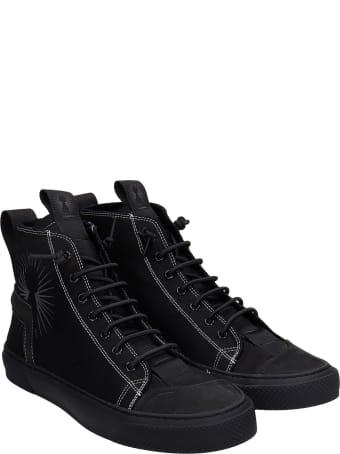 Bruno Bordese Polon Sneakers In Black Canvas