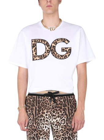 Dolce & Gabbana T-shirt With Leopard Patch