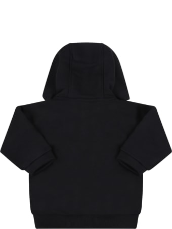 Givenchy Black Sweatshirt For Baby Girl With Logo