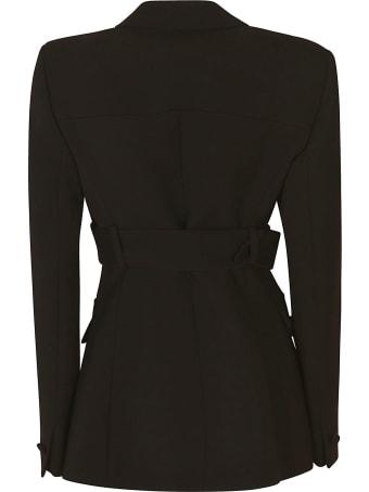 Versace Single Button Belted Waist Blazer