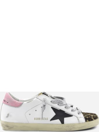Golden Goose Superstar Sneakers In Leather With Animalier-effect Pony Skin Insert
