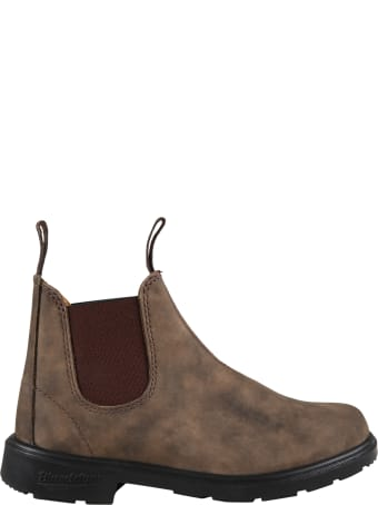 Blundstone Brown Boots For Boy With Logo