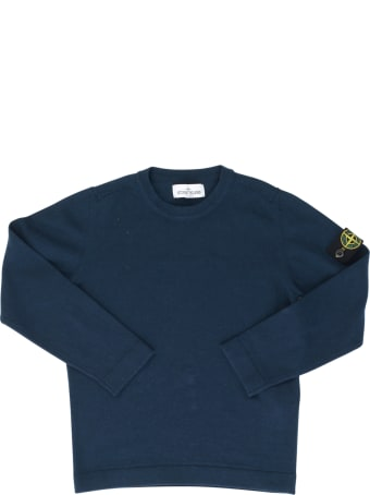 Stone Island Junior L/s Sweater W/logo